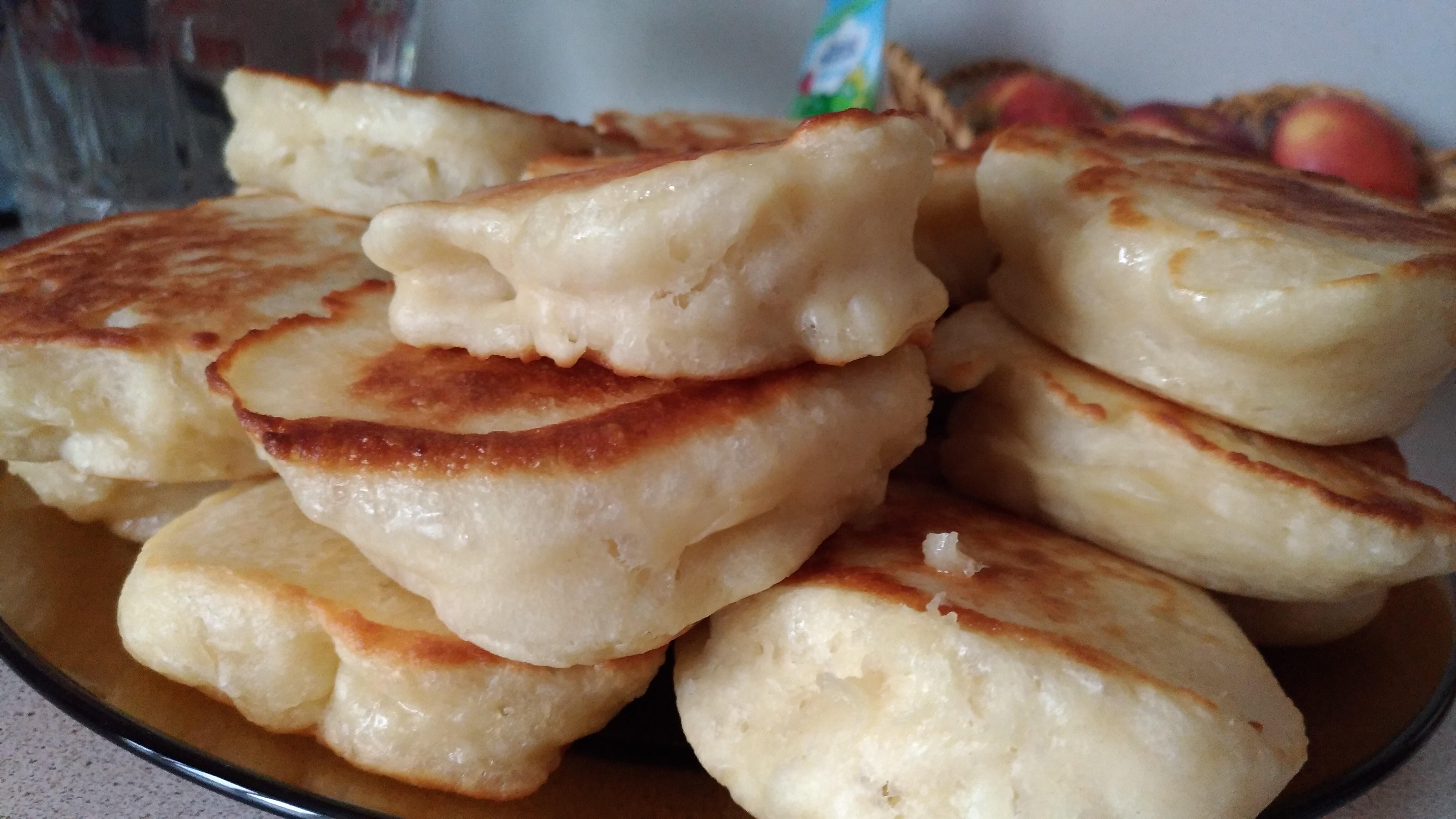 Оладушки на дрожжах рецепт с фото пошагово